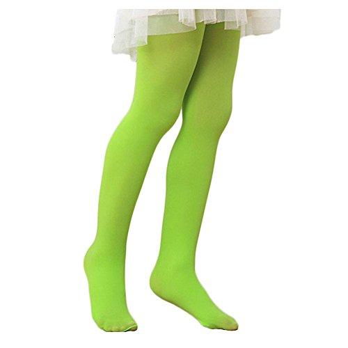 Preisvergleich Produktbild Westeng Kinderstrumpfhose Schüler Socken Samtfarbtanzsocken Samt Socken Grün Geeignet für Mädchen mit einer Höhe von 115-130cm