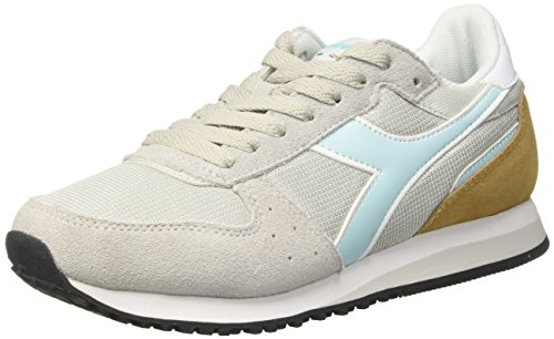 Diadora Malone W, Sneaker Bas du Cou Femme Gris (Gr Alluminio/azzurro Acqua Chi)