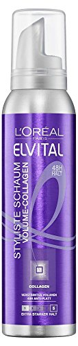 L'Oréal Paris Elvital Styliste Schaumfestiger Volume-Collagen, 2er Pack (2 x 150 ml)