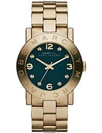 Marc Jacobs MBM8609 - Reloj con correa de acero para mujer, color verde / gris