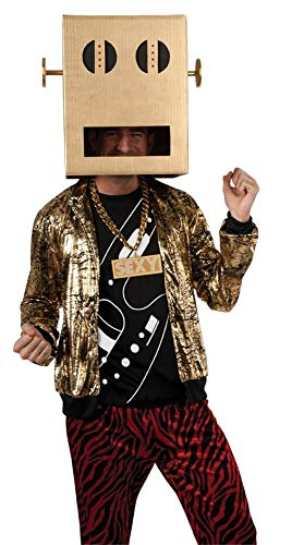? Party Rock Anthem Adult Costume Halloween size of LMFAO Shuffle Bot Party Rock Anthem Adult Costume LMFAO shuffle bot: X-Large (japan import)