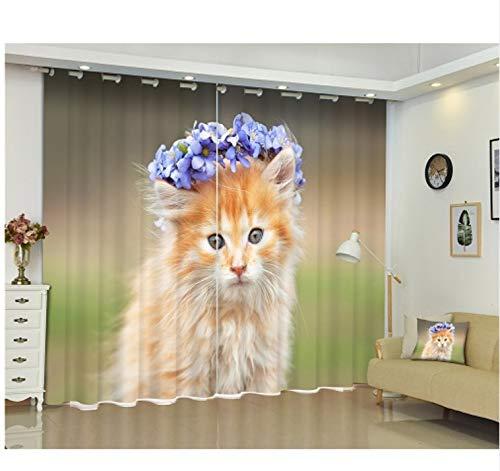 Ten-tailed fox Nette Tiere Katzen Drucken 3D Fenster Vorhänge Vorhänge Für Wohnzimmer Kinder Kinder Bett Zimmer Büro Hotel Home Wandteppich H240 * W220 cm