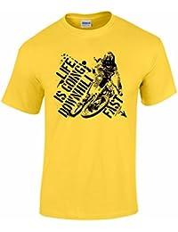 T-Shirt pour Hommes Motif 'Men's Life Is Going Downhill Fast'