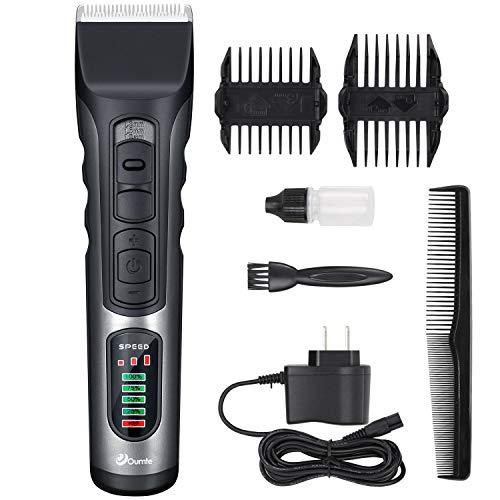 Haarschneidemaschine Oumte Profi Haarschneider Maschine Haare Bartschneider Herren Haartrimmer Männer Elektrische Trimmer Hair Clipper Set für Friseur Wiederaufladbare LCD Display Haarscherer