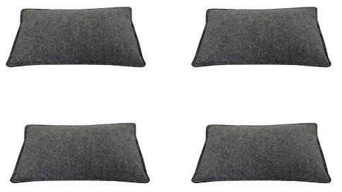 Filz-Kult Sitzkissen für Bierzeltgarnitur, grau-meliert, 4 Stück, Bierbank-Auflage, Filz-Kissen,...