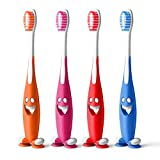 Aquawhite Junior Smiley Soft Bristles Toothbrush Pack Of 4 (Colour May Vary)