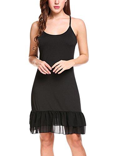 Zeagoo donna vestito sottoveste canotta camicia da notte biancheria da notte