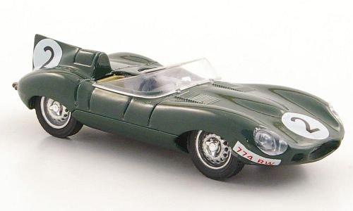 Preisvergleich Produktbild Jaguar D- Type, No.2, P.Frere, 24h Le Mans, 1956, Modellauto, Fertigmodell, Brumm 1:43