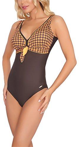 aQuarilla Costume da Bagno Intero per Donna Guyana Marrone/Arancia
