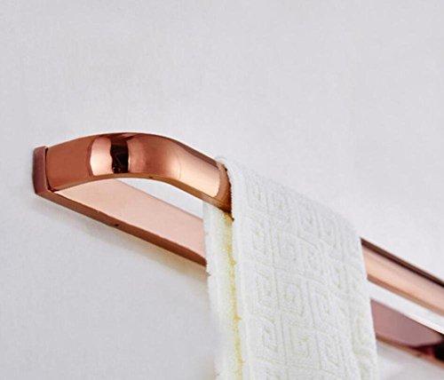 GuoEY Badezimmer Door-Towels, Regale in Kupferstäbe full Single Door-Wall Handtücher Bad Küche Pink Gold Anhänger