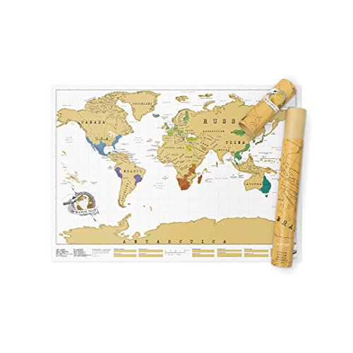 World map pin board amazon luckies of london scratch map original personalised world map poster travel gift gumiabroncs Images