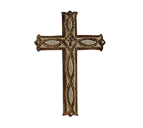 hand-carved-mango-wood-wall-hanging-cross-in-effetto-invecchiato