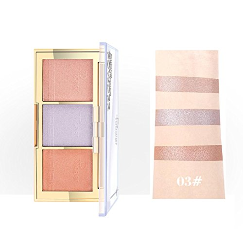 SOMESUN Highlighters Palette mit 3 Farbe Spotlight Highlight Kosmetische Lidschatten Creme Augenschatten Makeup Eyeshadow Palette | Perlisierter Lidschatten | Schimmer Set | 3 Farbe (# C) (Sleek Kosmetik-highlight)