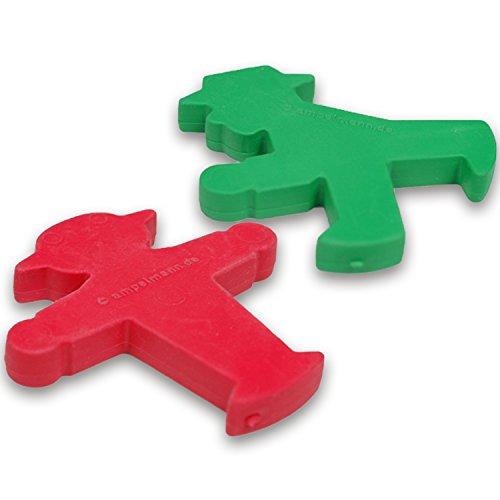 Ostprodukte-Versand.de Radiergummi rot oder grün Ampelmännchen | INKL DDR Geschenkkarte | DDR Geschenk | Ideal für jedes DDR Geschenkset | DDR Waren