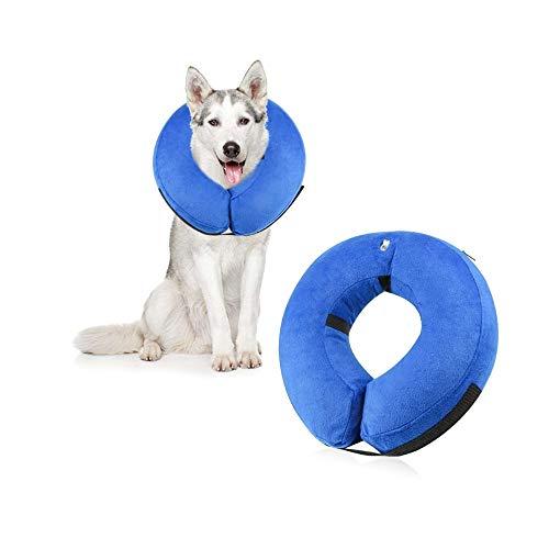 HanDingSM Aufblasbar Haustier Halsband Hals Halsband, aufblasbar Hunde Halsband, Schutz Schutz Sleeve für postoperative Haustiere, Hunde Beauty Schutz Halsband (L)