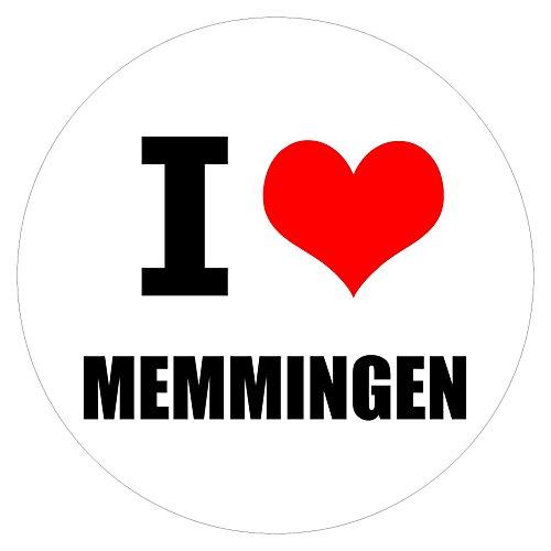 I love Memmingen in zwei Größen erhältlich Aufkleber mehrfarbig JDM Decal Sticker Racing