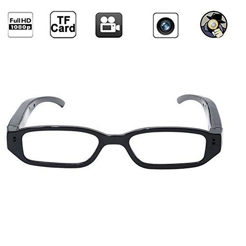 Tangmi 1920x1080P HD Brille Videokamera Glas Web- Kamera Eyeware verdeckte Spion Kamera Mini-DVR Camcorder +8GB Speicherkarte