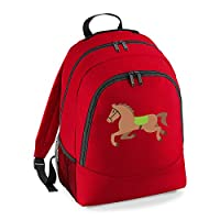 Apparel Printing Emoji Horse Universal Backpack Classic Red