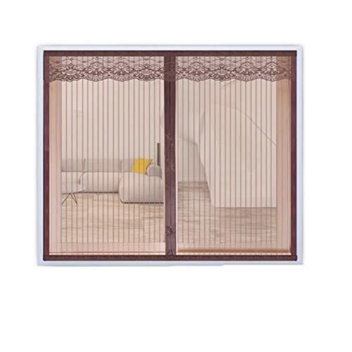 Zehaer Bett Insektennetz Fenster Moskitonetz magnetisch Fliegengitter Eisen Magnet Garn Vorhang Magnet Sand Screen Netze Moskito Gardinen Breite + Höhe 100120 cm