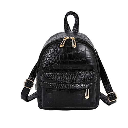 Muium Zaino Donne School Bag Casual Borse a Tracolla Daypack Piccolo Tote Bag di PU Pelle Zainetto Ragazza Zaino per Viaggio - Nero,caffè,Verde