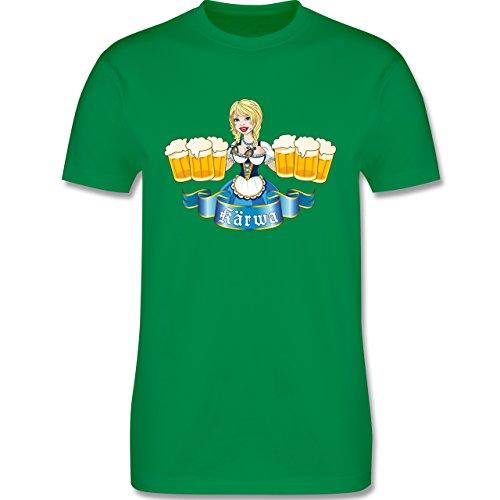 Oktoberfest Herren - Kärwa Mädel - Herren Premium T-Shirt Grün