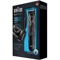 Braun BT3020 - Recortadora de barba recargable de precisión con 20 ajustes de longitud, negro
