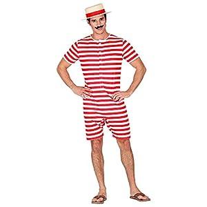 WIDMANN 03263 - Traje de baño para hombre, diseño retro, color rojo