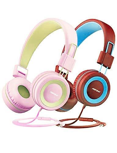 Mpow Casque pour Enfant avec Volume limité, écouteurs pour Filles avec Micro et contrôle en Ligne, matériau sûr