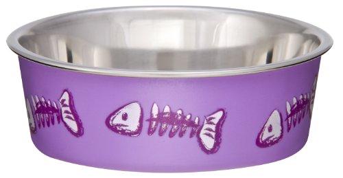Bella Bowl Fish Bowl, XS, Violett (Keramik Bone Hundenäpfe)