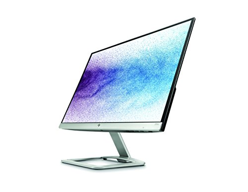 HP 22es 22 inch LED Monitor 1920 x 1080 Pixel filled HD FHD IPS 7 ms HDMI VGA Black and Silver Monitors