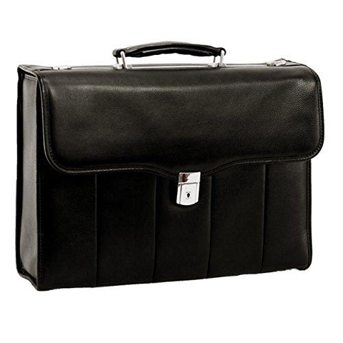 McKlein, I Series North Park Laptoptasche aus Vollnarbenem Kaschmir-Nappaleder, 38,1 cm (15 Zoll), Schwarz (46555) -