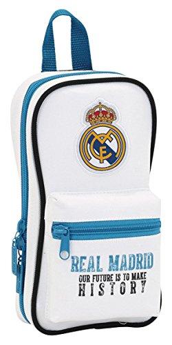 Real Madrid – Plumier Forma de Mochila con 4 portatodos (SAFTA 411754847)
