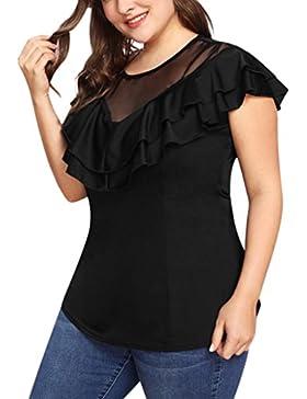 FAMILIZO Camisetas Sin Hombros Mujer Tallas Grandes ❤️XL~5XL Camisetas Mujer Verano Blusa Mujer Elegante Camisetas...