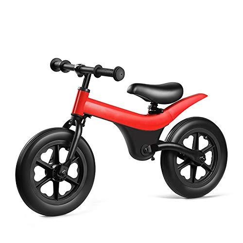 Scooter Pas De Frein À Péd Work Out Toddler Voiture 3-6 Ans Siège Réglable (Color : Red, Size : 12 Inch)