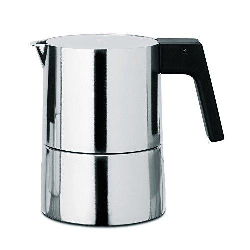 Alessi PL01 3 Espressomaschine, Aluminium, silber