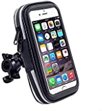 "Universal Waterproof Bike Mount Phone Holder Pouch for Smartphones and GPS (For Smartphone up to 5.5"")"