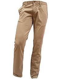 ALBERTO Regular Slim Fit Hose Gesäßtaschen mit Knöpfe beige