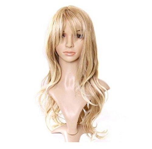 Urparcel Cheveux longue Lisse Perruque longue Perruque frisé synthétique Perruque Naturel Pour Femme Vie quotidienne doré clair C002