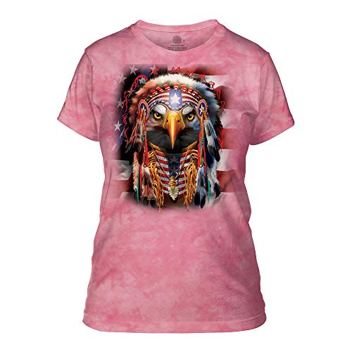 The Mountain Damen Native Patriot Eagle Apparel T-Shirt, Rose, Klein - Eagle Damen Rosa T-shirt