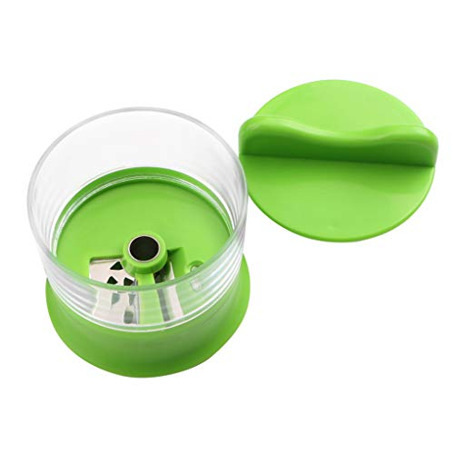 Description Made of high quality stainless steel and PP durable and healthy. Easy to use and clean. Non-slip hold for more comfortable slicing. A compact slicer that's just the right size for most of your vegetables. It also keeps your hands safe and...