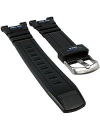 Calypso watches para banda reloj de pulsera banda de plástico negro con blanco/azul con texto para modelo k5674/3