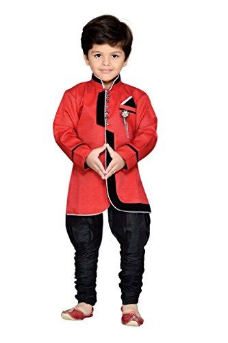 AJ Dezines Kids Party Wear Suit Set for Boys (644_RED_1)