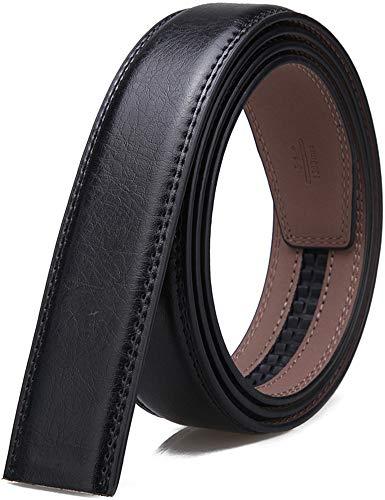 MaxBelt hombres moda lujo cuero cintura cinta automática cintura correa sin Hebilla, 3,5 cm de ancho (Color 2, 130cm/34-44' cintura ajustable)