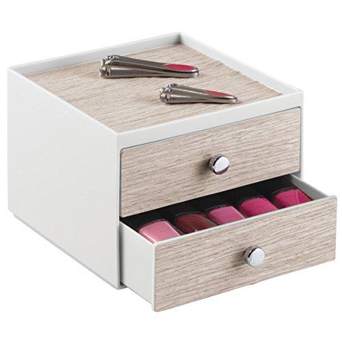 mdesign-cosmetic-organizzatore-per-mobile-per-tenere-trucco-prodotti-di-bellezza-2-cassetti-grigio-c