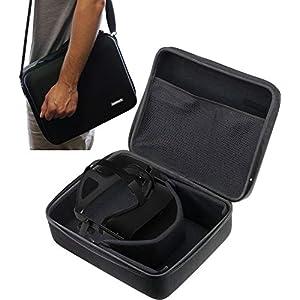 Navitech Schwarz schwere robuste harten Fall/Abdeckung mit Schulterriemen kompatibel mit Oculus Rift S
