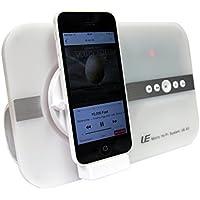 10 Watt Micro Hi-Fi System Sound Tube für Apple iphone X iphone SE 5 5S 6 6S iphone 7 8 Plus ipod Touch 5 6 7 iPad Pro ipad mini ipad Air für Musik Video Skype mit 8-PIN Lightning Schnittstelle & Bluetooth Funktion Lautsprecher Soundsystem mit Fernbedienung - weiß white
