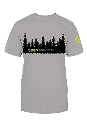 Deep Ocean Profundo Océano Treeline Camiseta de, Hombre, Gris