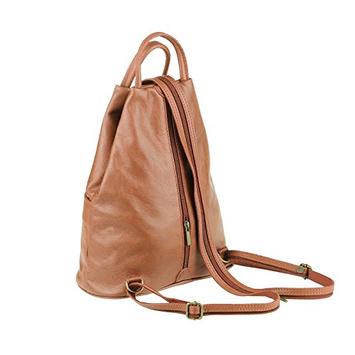 OBC Only-Beautiful-Couture, Borsa a zainetto donna marrone Taupe V1 ca. 25x30x11 cm (BxHxT) Cognac
