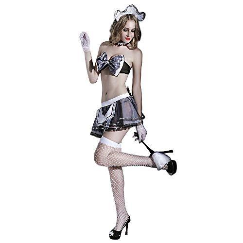 Hot Kostüm Maid - Nachtwäsche & Bademäntel für Damen Maid Kostüm Set Hot Erotic Dessous Anzug Sexy Frauen Novetly Frauen Halloween Cosplay Kleid Französisch Maid Kleidung @ Wie Gezeigt