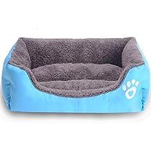 cama de perrito Sannysis perrera Casa para mascotas, rectángulo (Azul, ...